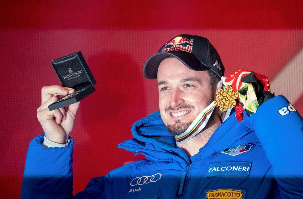 Gold im Super-G von Are – der Italiener Dominik Paris krönt seine Karriere. Foto: dpa