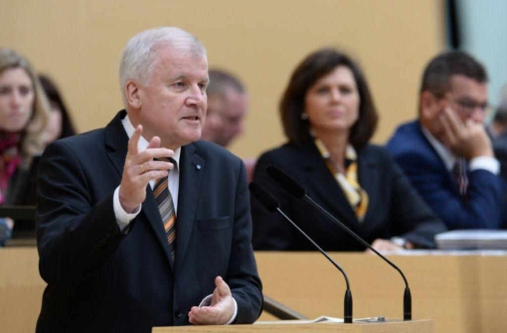 Horst Seehofer forderte eine Begrenzung der Zuwanderung. Foto: dpa