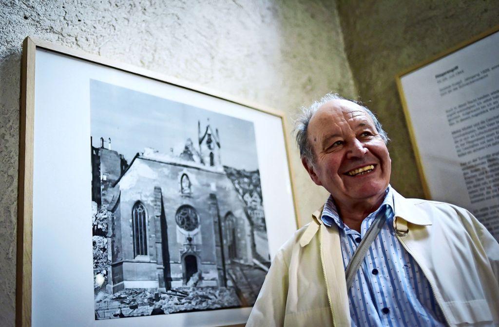 Heinz Rittberger erlebte die Bombennacht Foto: Max Kovalenko info@maxkovalenko.com 01577/1989584/Lichtgut/Max Kovalenko