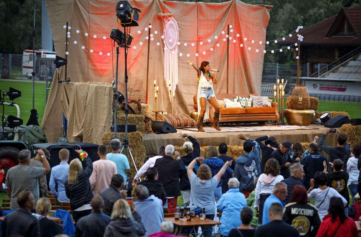 2000 Besucher waren bei den Konzerten von Andrea Berg zugelassen. Foto: /Gottfried Stoppel