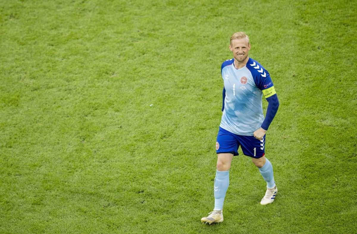 Kasper Schmeichel zeigte sich im Vorfeld des Halbfinals durchaus schlagfertig. Foto: imago images/Moritz Müller