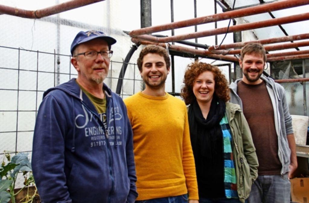 Andreas Zeger, Laurens Rinke, Jana Raschke und Nico Wilczek (v.l.)  vom Vorstand des Vereins Chloroplast. Foto: Martin Braun