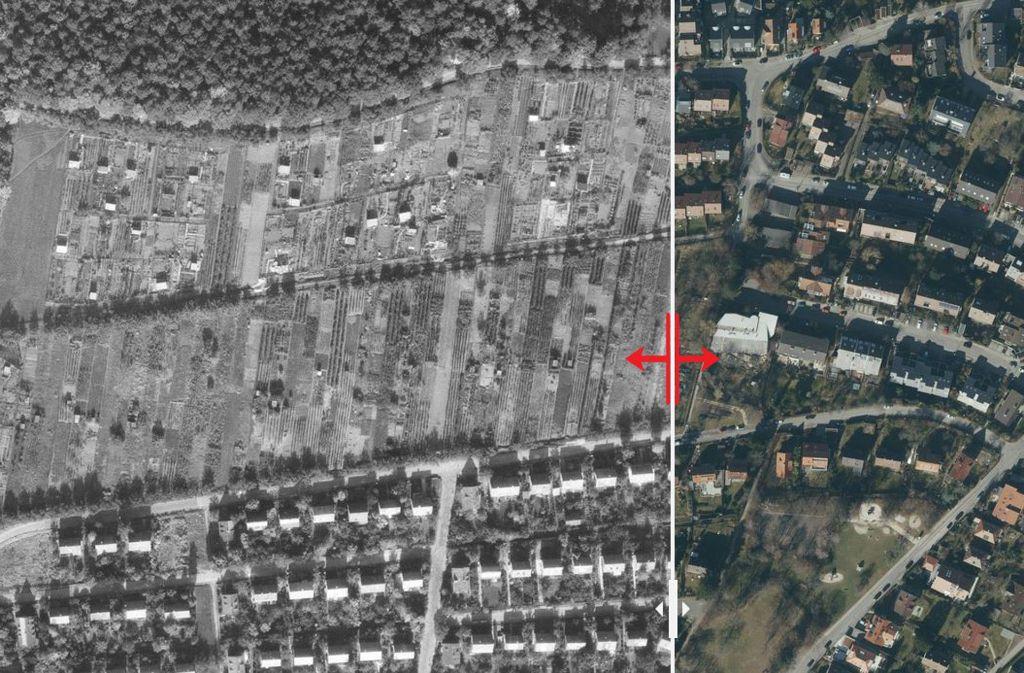 Die Geschichte der Landstadtsiedlung begann in den 1930er Jahren.  Das Besondere damals: sehr viel Grün und wenig Beton. Foto: Stadtmessungsamt/Plavec