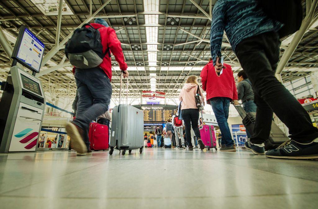 Auf dem Flughafen Stuttgart stellten sich im ersten Halbjahr 2018 deutlich mehr Fluggäste ein als in den ersten sechs Monaten des Vorjahres. Foto: Lichtgut/Christoph Schmidt