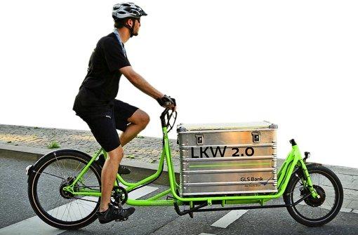 E-Lastenbikes könnten  Autos im Warenverkehr auf Kurzstrecken ersetzen. Foto: Lichtgut/Leif Piechowski
