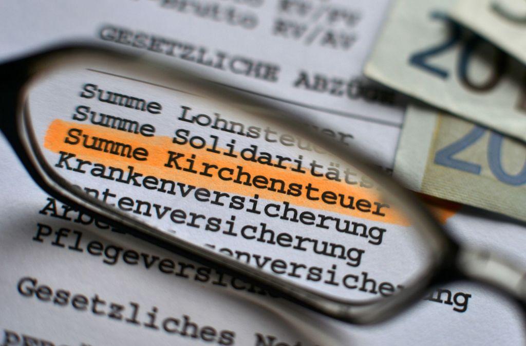 Die Kirchensteuer sprudelt  in Württemberg noch üppig. Foto: dpa-Zentralbild