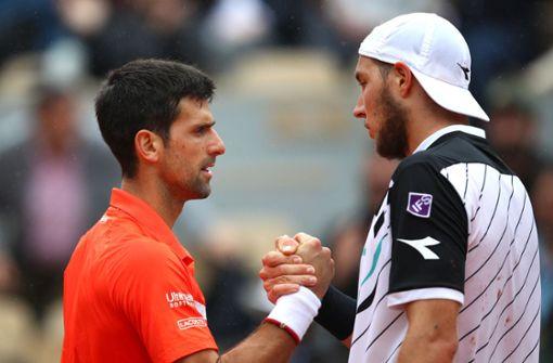 Jan-Lennard Struff erhält Lehrstunde von Novak Djokovic