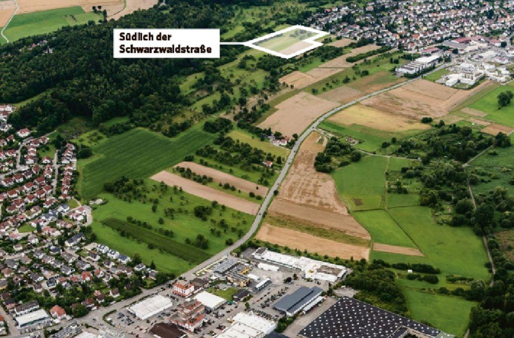 """Mit dem Neubaugebiet """"Schwarzwaldstraße"""" wird Merklingen größer. Foto: Holger Leicht"""