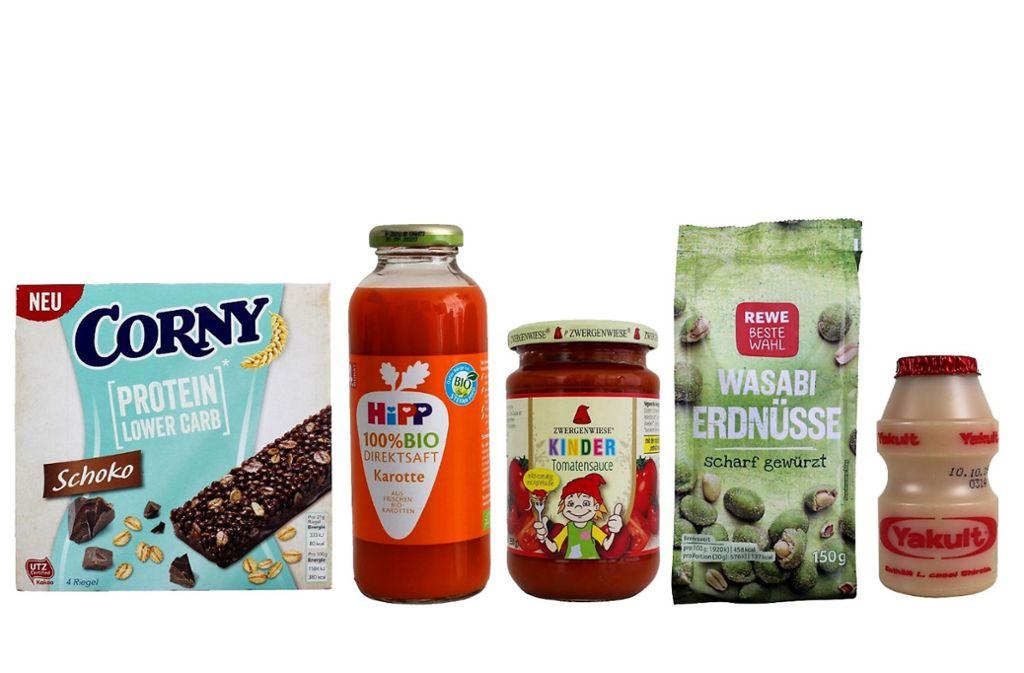 Diese fünf Produkte hat Foodwatch für den diesjährigen Negativpreis nominiert. Foto: FOODWATCH.DE