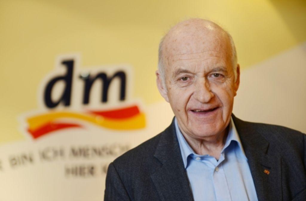 Götz Werner, Gründer der Drogeriemarktkette dm, wurde mit dem Erich-Fromm-Preis ausgezeichnet. Foto: dpa