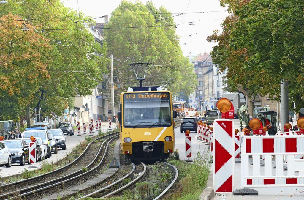Vom 28. Oktober bis zum 3. November sind die Stadtbahnlinien  U 1 und U 13 unterbrochen. Foto: Uli Nagel