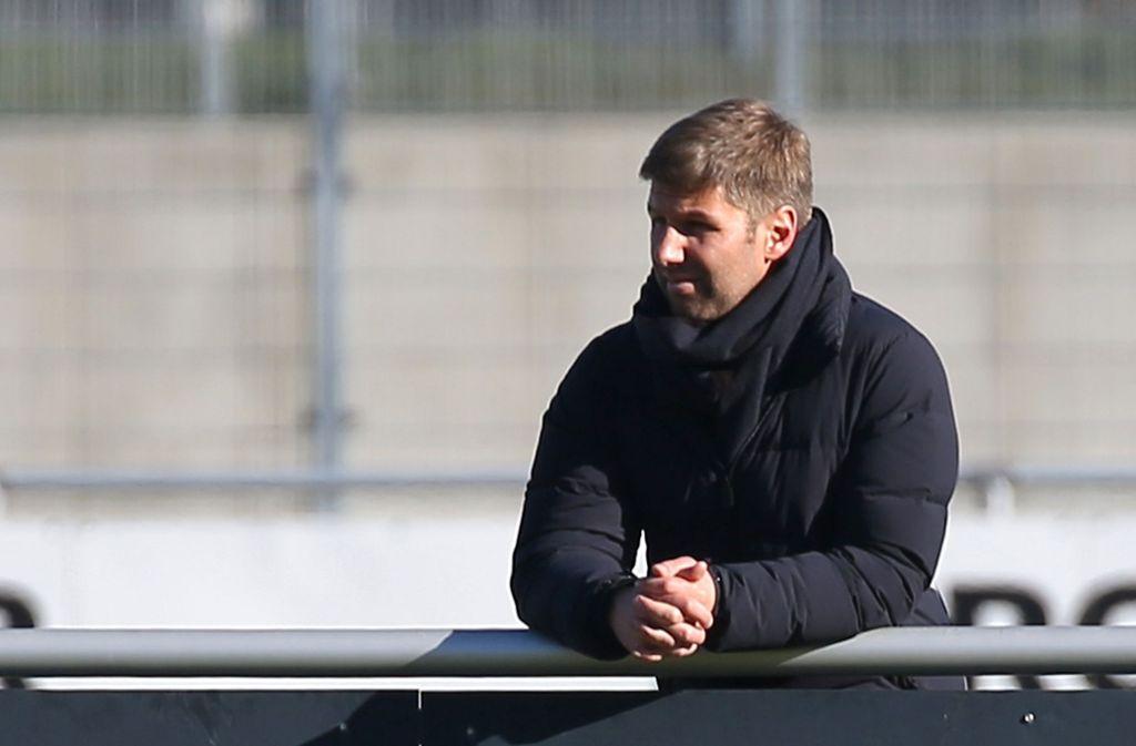 Thomas Hitzlsperger beim Training des VfB Stuttgart Foto: Pressefoto Baumann