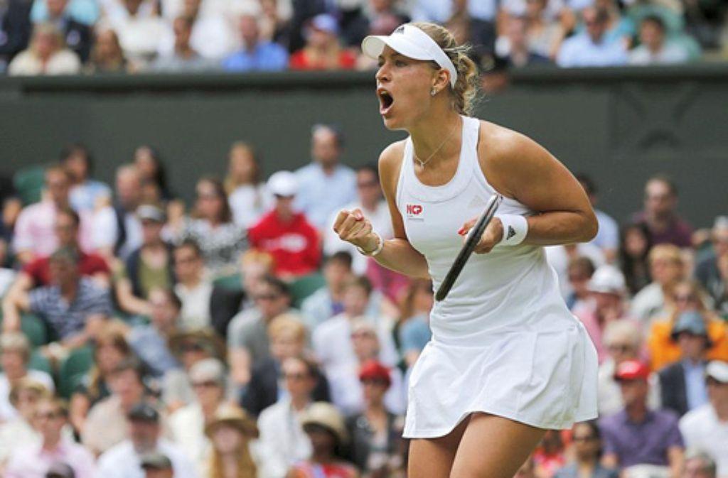 Nach Sabine Lisicki erreicht auch Angelique Kerber (Foto) das Viertelfinale von Wimbledon.  Foto: dpa