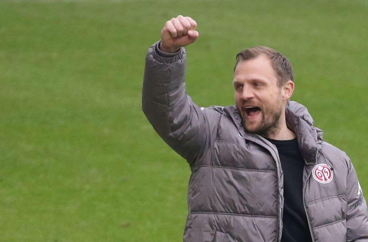 Bo Svensson trifft mit seinem FSV Mainz an diesem Samstag in der Bundesliga auf den FC Bayern – dreimal siegte der Däne schon gegen die Münchner. Foto: Baumann