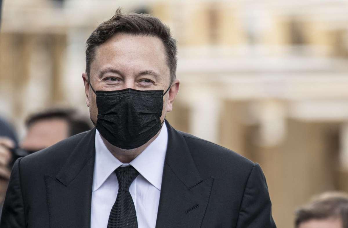 Elon Musk machte am Mittwoch Halt in Berlin. Foto: dpa/Fabian Sommer