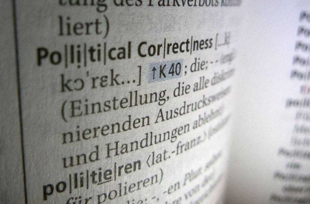 Was ist political correctness: wenn man Diskriminierung zu vermeiden versucht. Foto: dpa