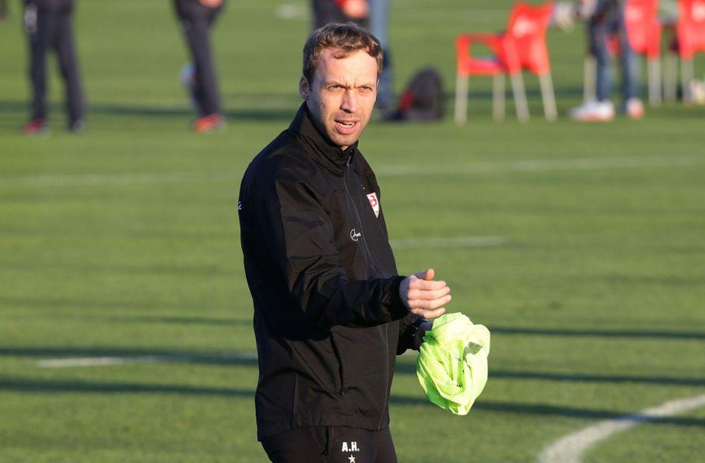 VfB-II-Trainer Andreas Hinkel Foto: Pressefoto Baumann