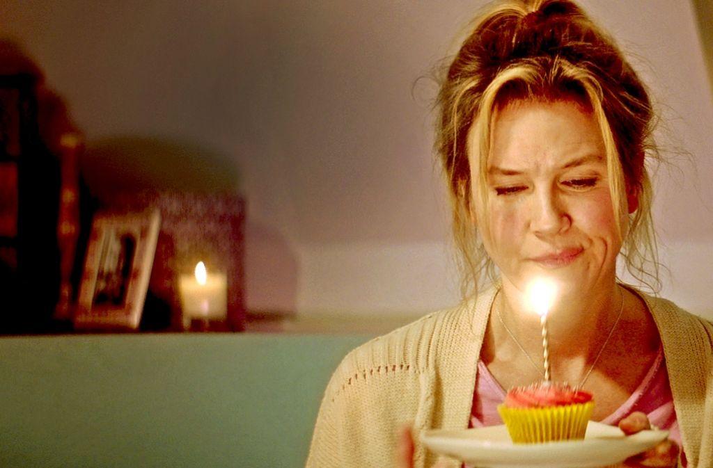 Was für ein trauriger Geburtstag: Bridget Jones (Renée Zellweger) feiert alleine. Foto: Verleih