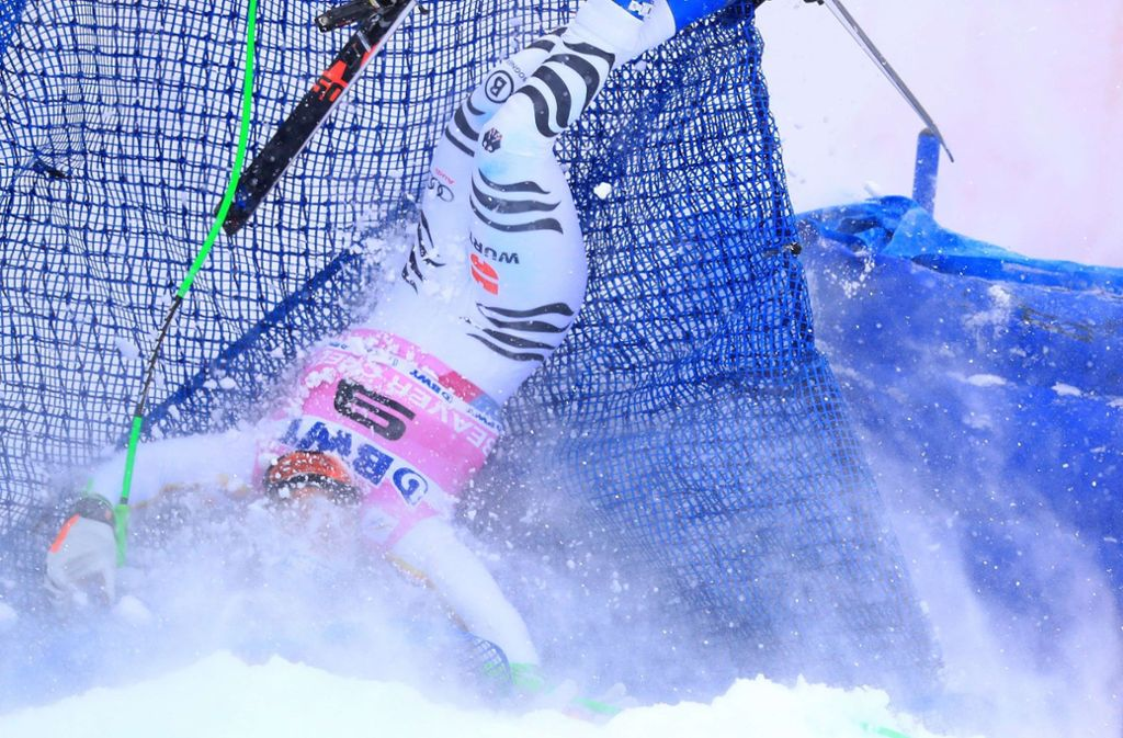 Thomas Dreßen bei seinem Skiunfall in Colorado. Foto: GETTY IMAGES NORTH AMERICA