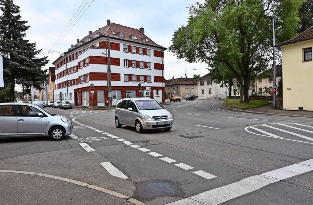 Die Kreuzung Imweg/Ebnisee-/Augsburger Straße birgt Risiken. Foto: Kuhn