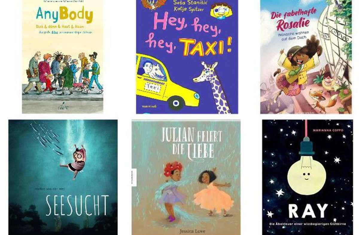 So viele tolle Neuerscheinungen. Unsere Tipps für Kinder finden Sie in unserer Bildergalerie. Foto: Verlage/Collage nja