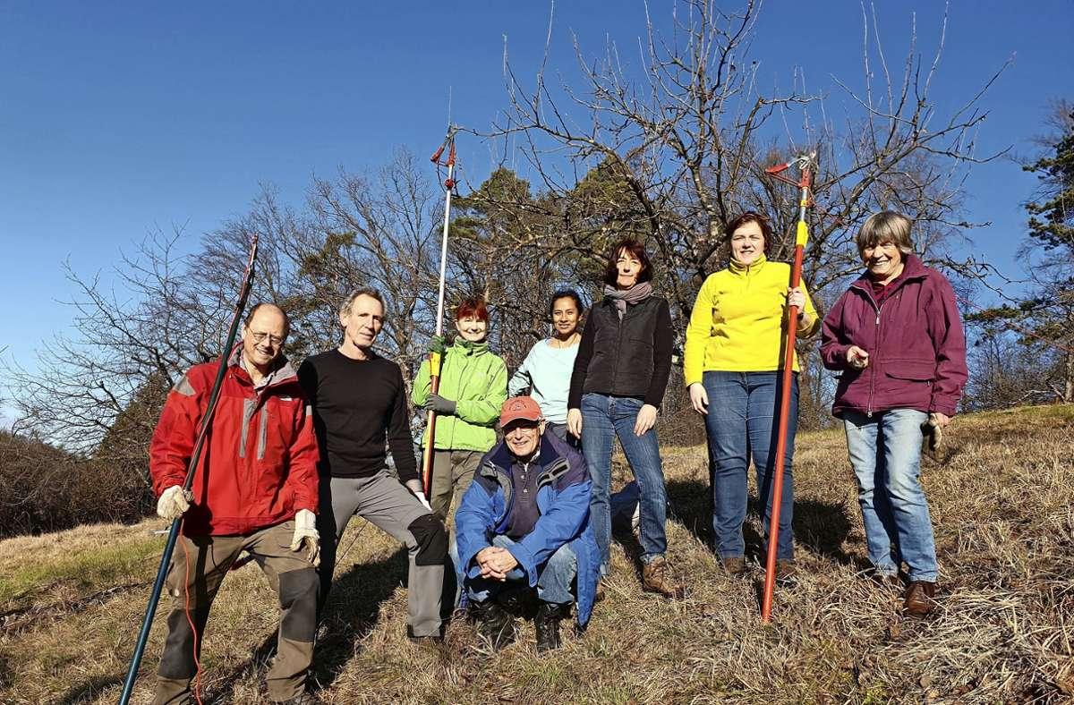 Die Agendagruppe Streuobstwiesen im Kreis Esslingen kümmert sich das ganze Jahr über um rund 25 Streuobstwiesen mit Hunderten Bäumen. Foto: oh