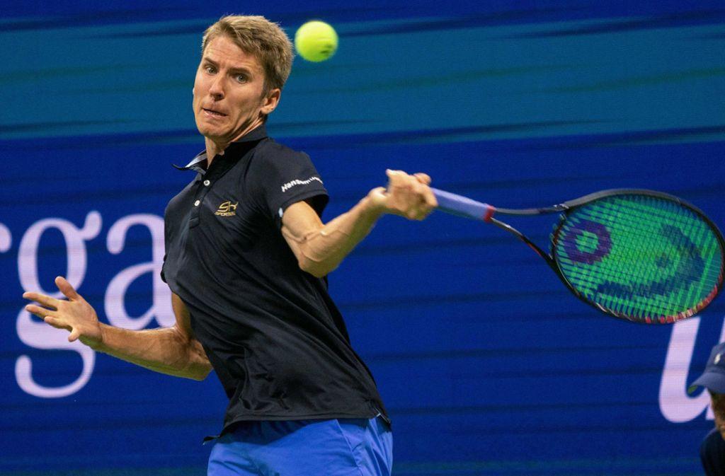 Cedrik-Marcel Stebe scheiterte bei den US Open in vier Sätzen an Maren Cilic. Foto: AFP