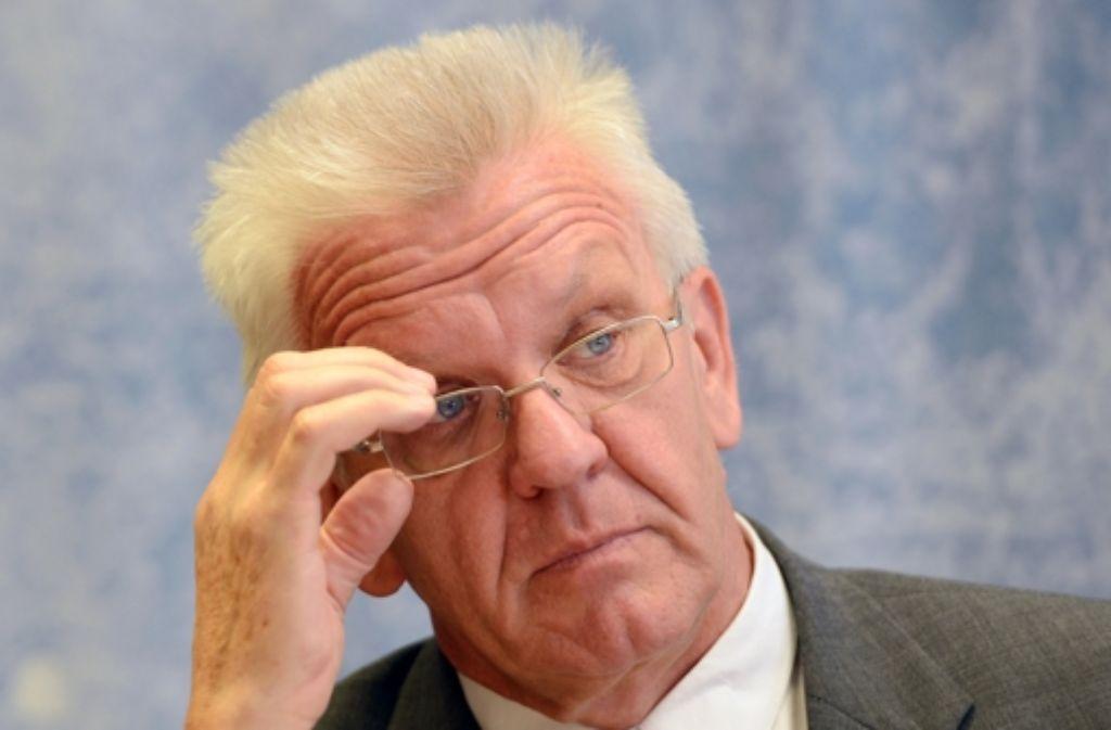 Ministerpräsident Kretschmann präsidiert,  doch es läuft nicht rund in der Regierung. Foto: dpa