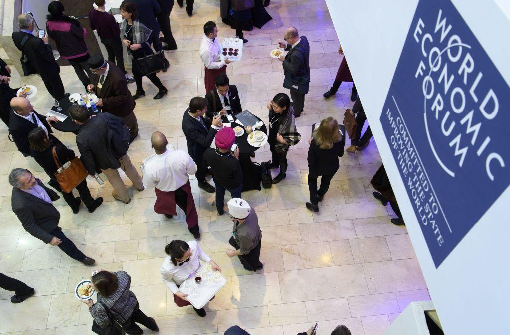 Auf dem Weltwirtschaftsforum in Davos wird nach Lösungen für eine gerechtere Welt gesucht. Foto: EPA