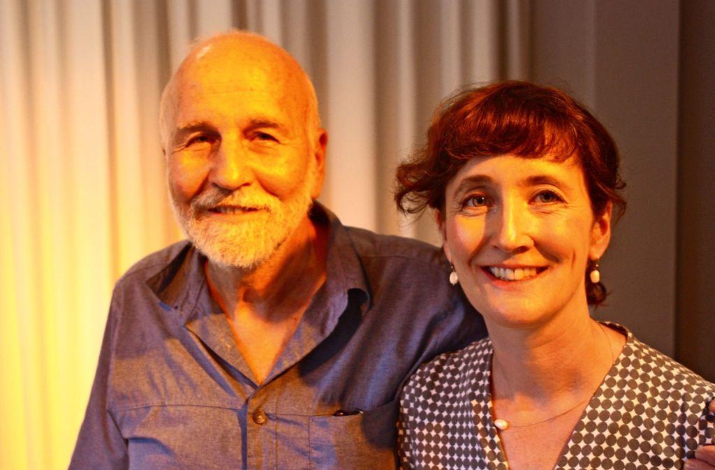 Unverkennbar Tochter und Vater: Lisa Welzhofer mit  Hagai Tsoref Foto: Christoph Kutzer Foto: