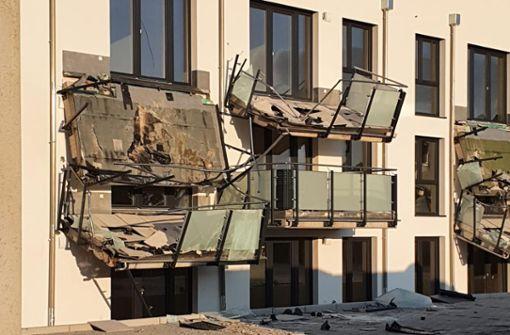 Baggerfahrer richtet halbe Million Euro Schaden an Neubau an