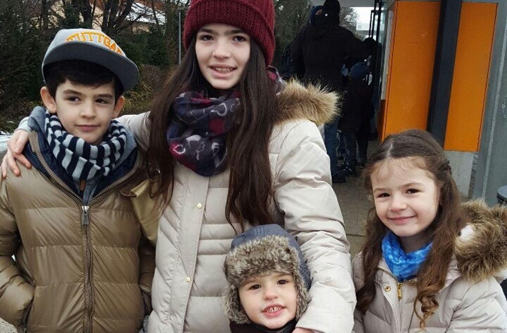 Vor wenigen Tagen waren sie noch in Stuttgart: die vier Kinder der Familie Haliti. Foto: privat