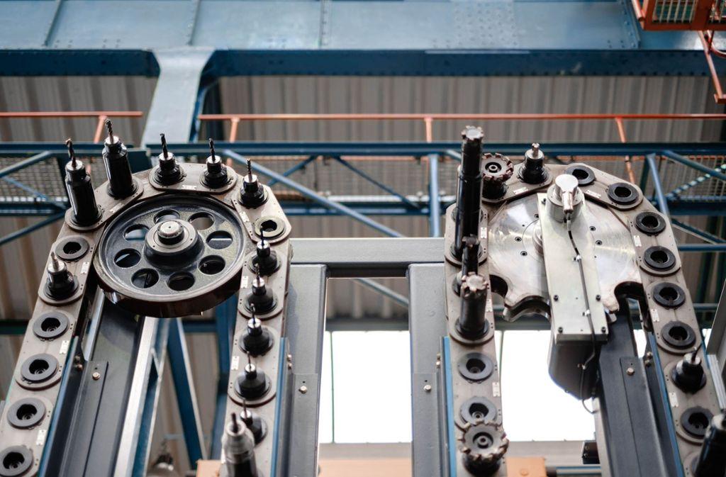Dieses System von SHW Werkzeugmaschinen  wechselt   bis zu  120 Werkzeuge. Foto: Jan Walford/SHW Werkzeugmaschinen
