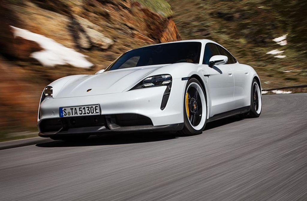 Der Taycan ist Porsches erster, rein elektrischer Sportwagen. Foto: Porsche AG