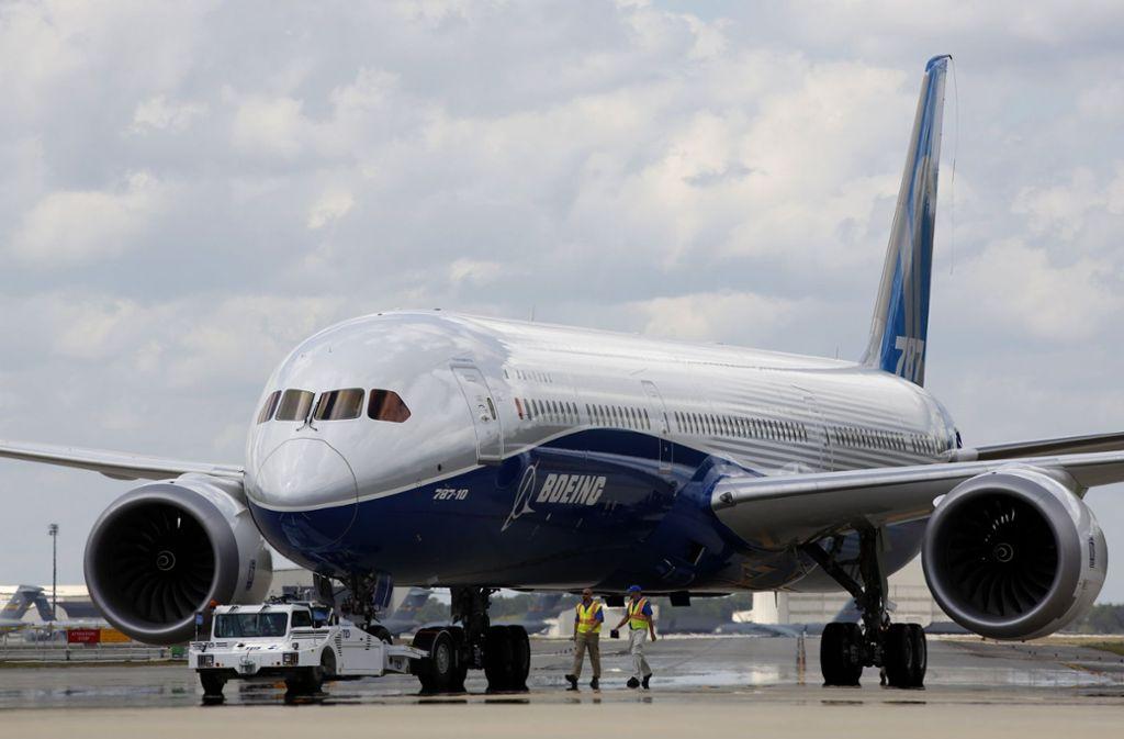 """Bei der Produktion des Langstreckenjets 787 """"Dreamliner"""" soll es Probleme geben. Foto: FR2 AP"""