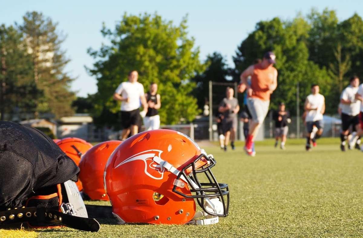 Die Footballer dürfen   – unter gewissen Bedingungen – trainieren. Foto: Fellbach Warriors