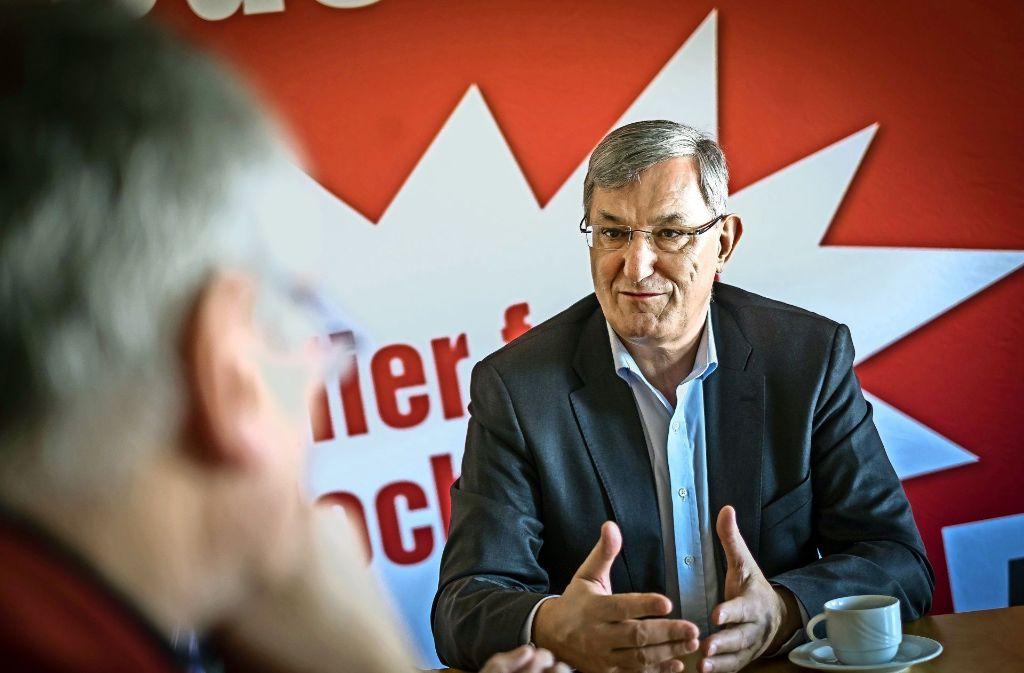 Bernd Riexinger hält seine Partei für kompromissfähig, um eine Allianz mit SPD und Grünen einzugehen. Foto: Lichtgut/Max Kovalenko