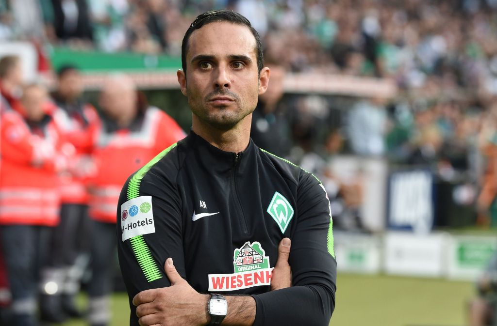 "Bremens Trainer Alexander Nouri wurde laut ""Sport Bild"" entlassen. Foto: dpa"