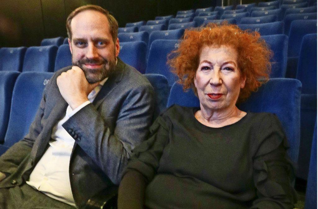 Hier werden die beiden Produzenten in Zukunft sicher öfter sitzen: Gloria Burkert und Christian Rohde im Caligari-Kino in Ludwigsburg. Foto: factum/Granville