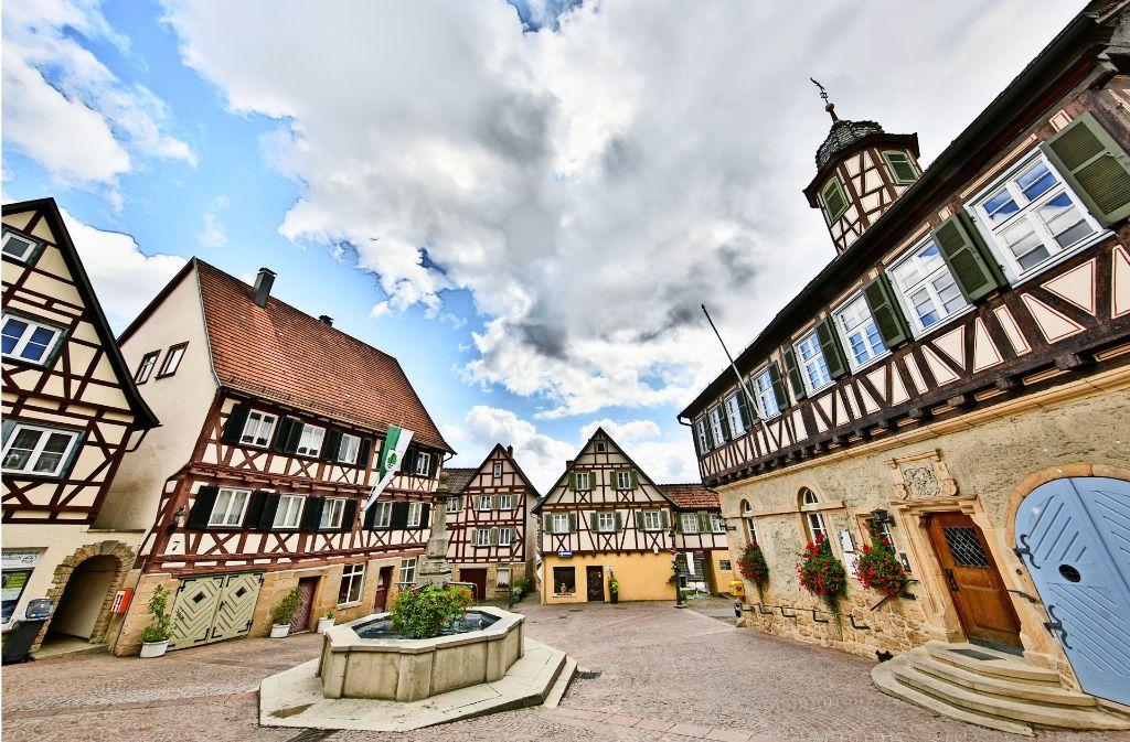 Die pittoreske Altstadt ist ein Teil von Waldenbuch. Der andere ist oben auf dem Kalkofen entstanden. Foto: Thomas Krämer
