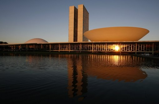 Oscar Niemeyers Regierungsbauten in Brasilia Foto: AP