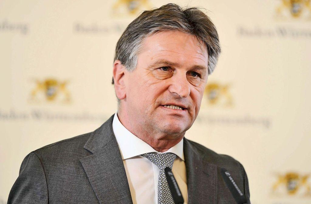 Ermittler der Stuttgarter Staatsanwaltschaft haben Minister Manne Lucha im Visier. Foto: Lichtgut/Max Kovalenko