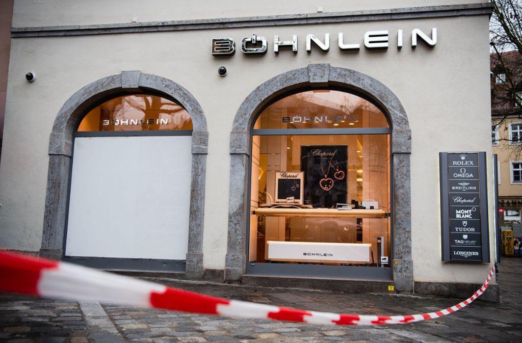 Das Juweliergeschäft am Eingang der Bamberger Fußgängerzone war bereits in der Vergangenheit Ziel eines Raubüberfalls. Foto: dpa