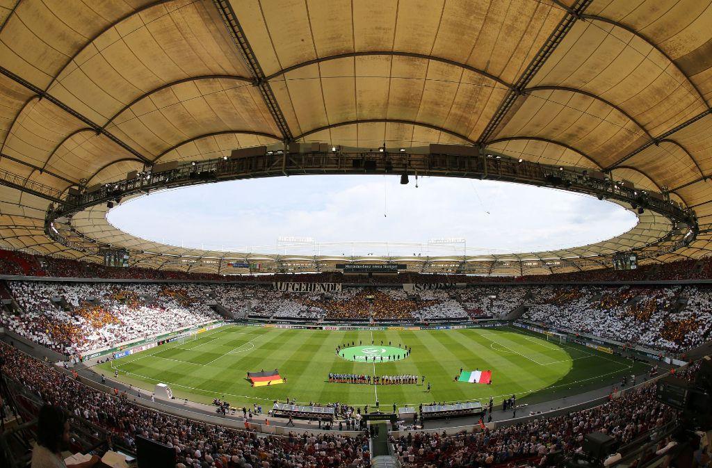 Auch Stuttgart bewirbt sich für die kommende EM 2024. Fans sehen die Mercedes-Benz Arena auf dem achten Platz. Foto: Pressefoto Baumann