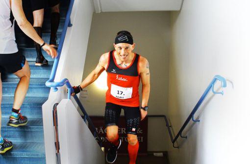Weltmeister im Treppenhaus-Marathon