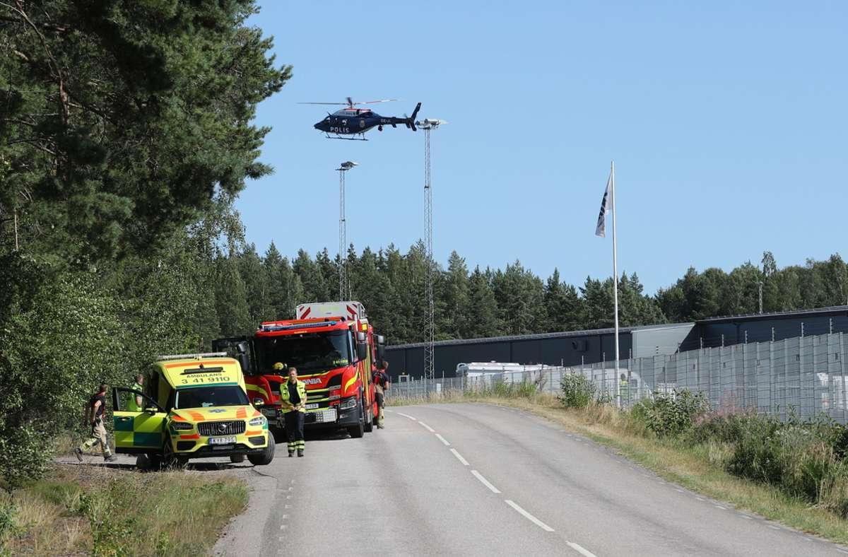 Die Polizei bestätigte am Mittag die Geiselnahme. Foto: dpa/Per Karlsson