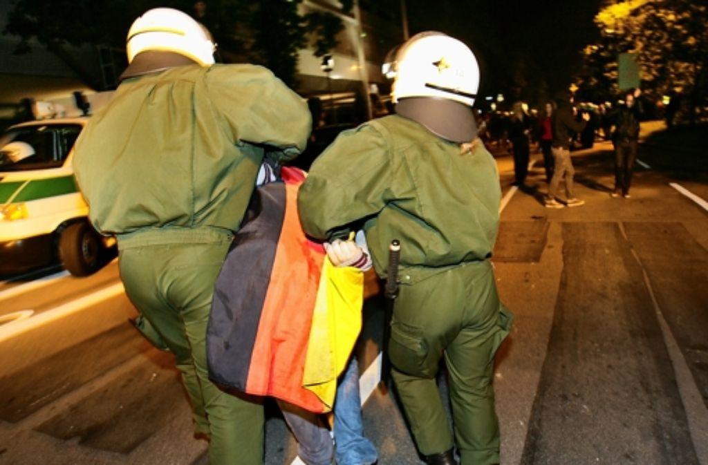 Wo die Party tobt, hat die Polizei Arbeit (das Bild entstand bei der Fußball-Europameisterschaft 2008) Foto: Marijan Murat