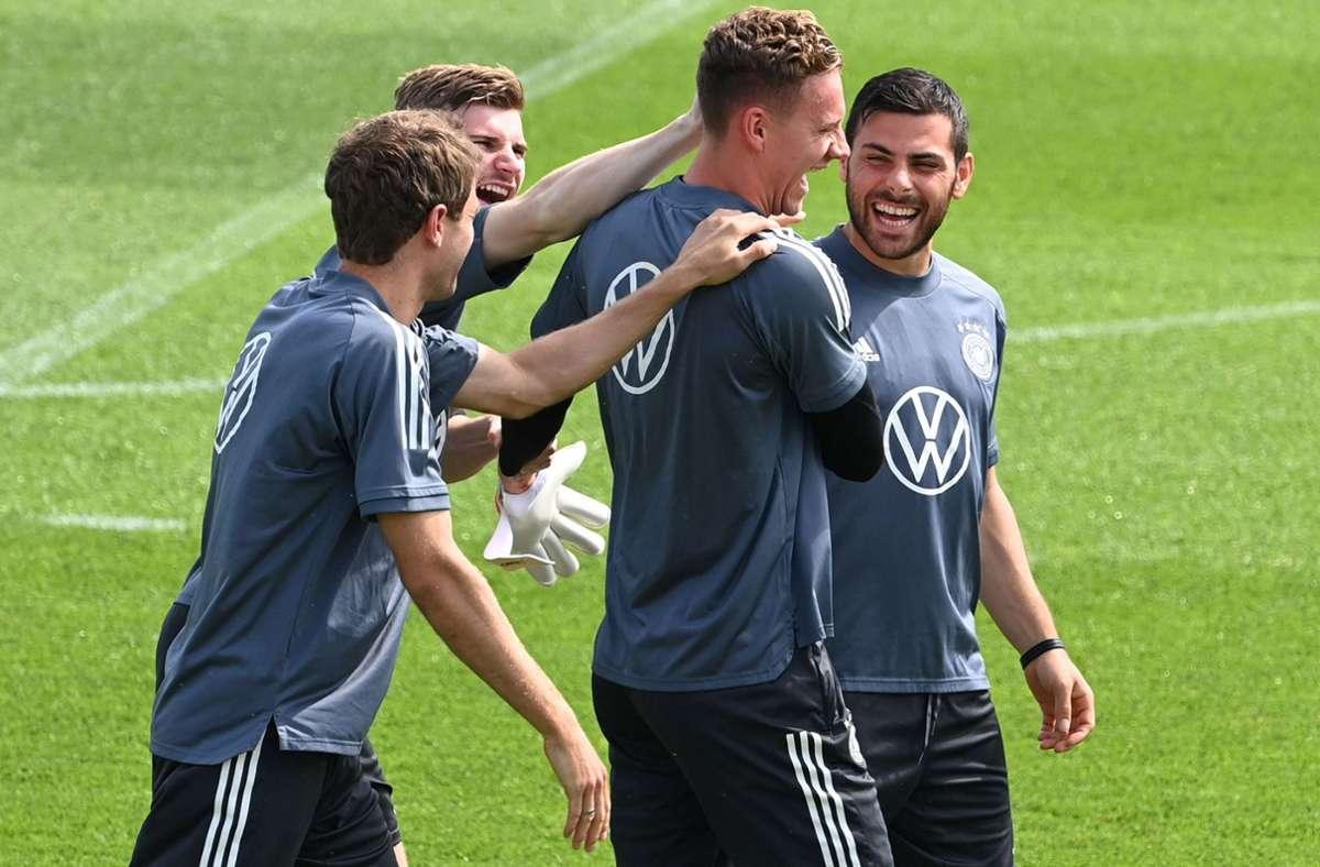 Beim DFB-Team steigt die Vorfreude auf den Start. Foto: AFP/CHRISTOF STACHE