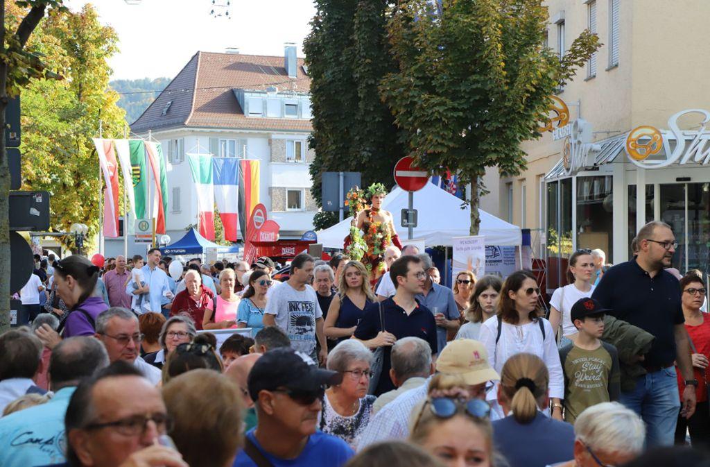 Tausende Besucher zogen am verkaufsoffenen Sonntag durch Fellbach. Foto: Patricia Sigerist