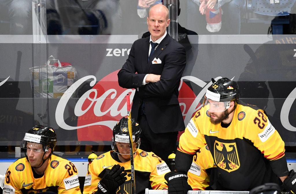 Note 2+ für Toni Söderholm: Der Bundestrainer hat seine erste Bewährungsprobe bestanden. Foto: dpa